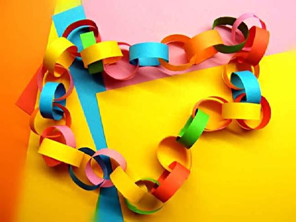 Как сделать гирлянду из бумаги на новый год своими руками видео