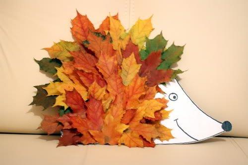 Легкие поделки  из листьев