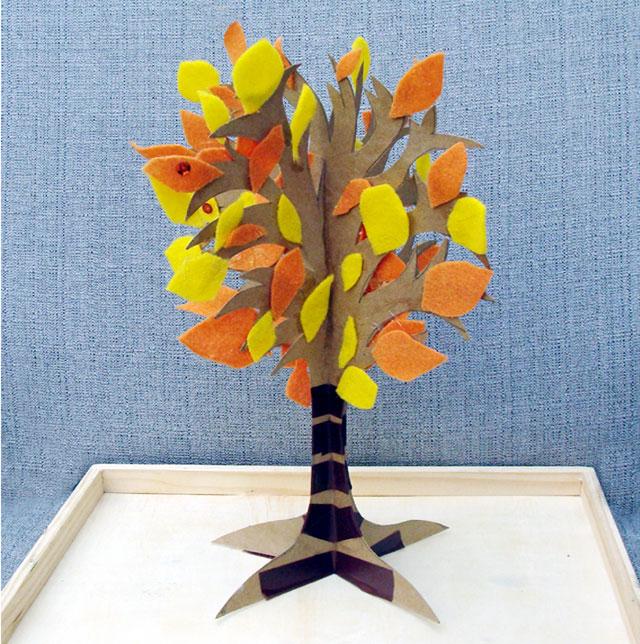 Как сделать осеннее дерево своими руками в школу