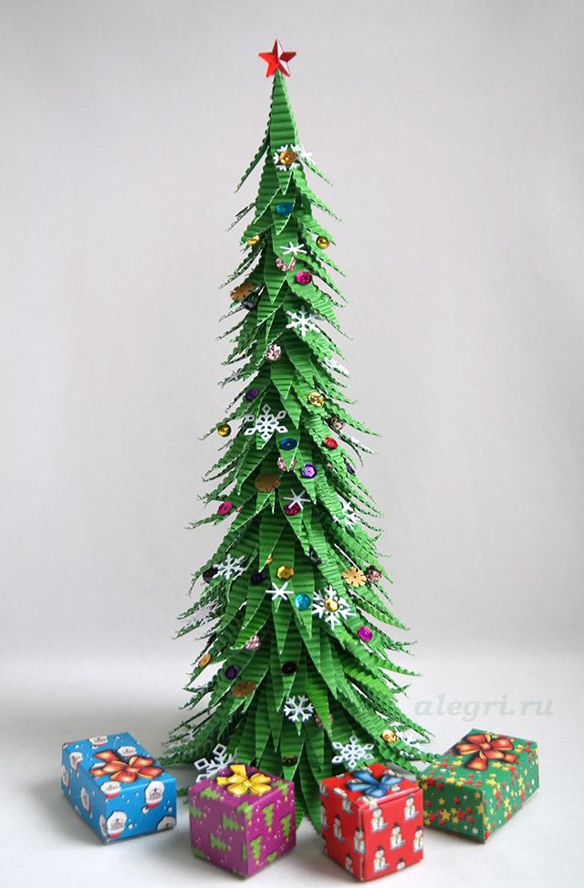 Необычные новогодние елки своими руками мастер класс