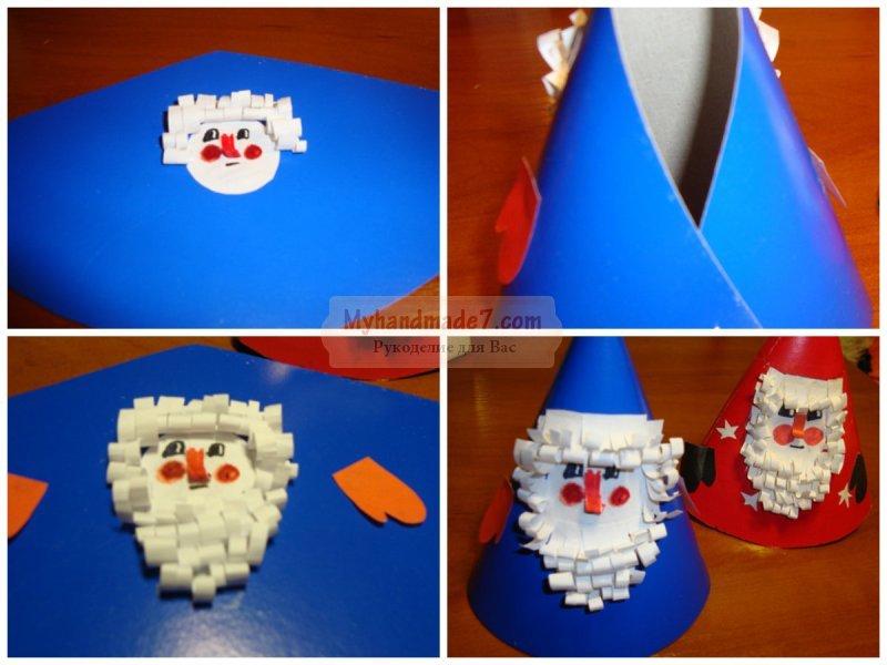 Дед мороз своими руками из бумаги пошагово 45