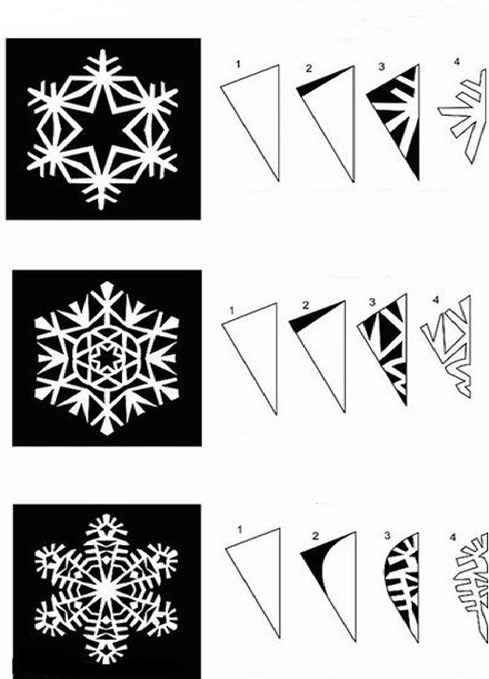 Как сделать из бумаги снежинку быстро