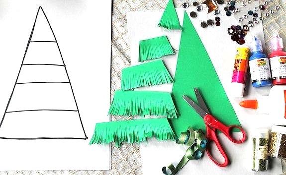 Как сделать елочку из бумаги для детей