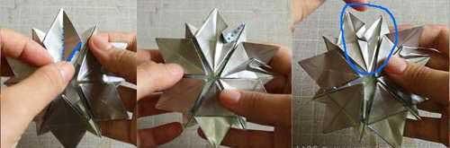 Сделать снежинку оригами видео