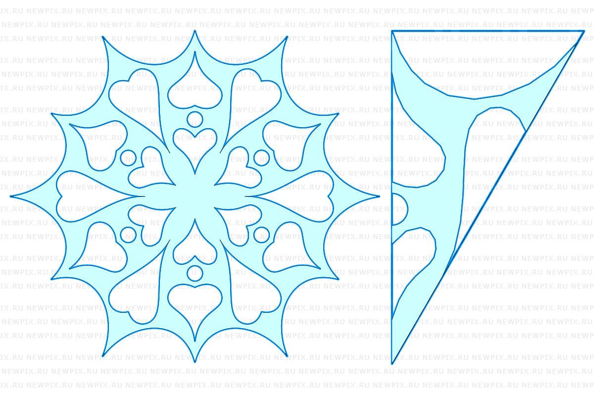 Вырезание снежинки схемы