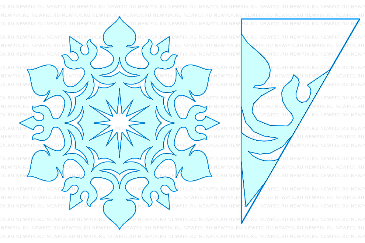 Вырезаем снежинки из бумаги своими руками трафарет