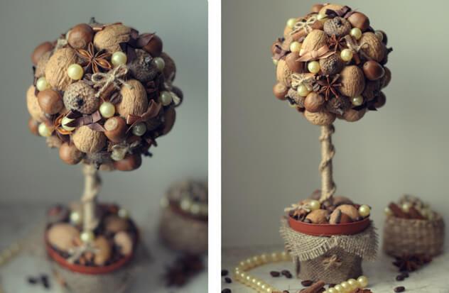 Поделки из орехов деревья