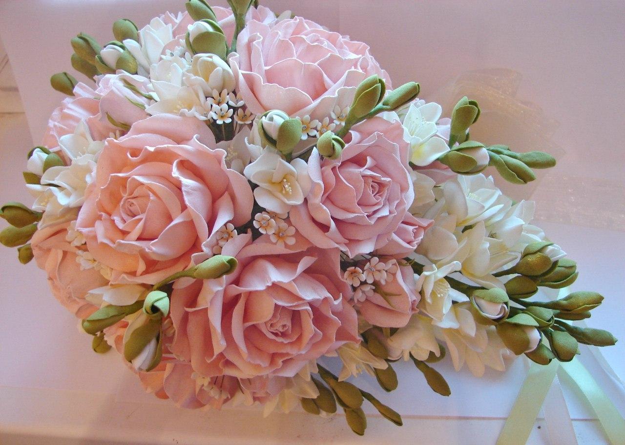 Свадебные букеты мастер класс с пошаговым