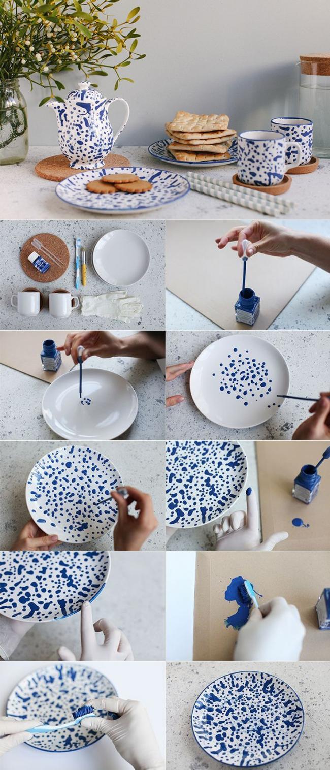 Изделия своими руками на посудах