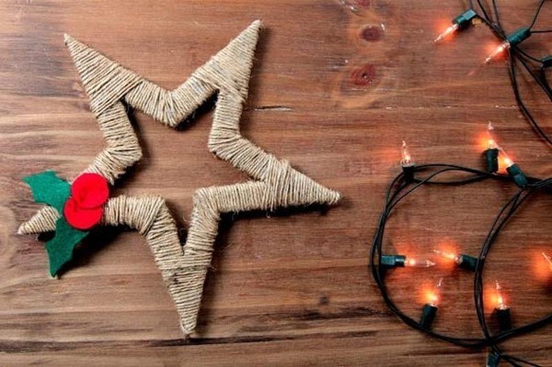 Новогодние звезды своими руками из ниток