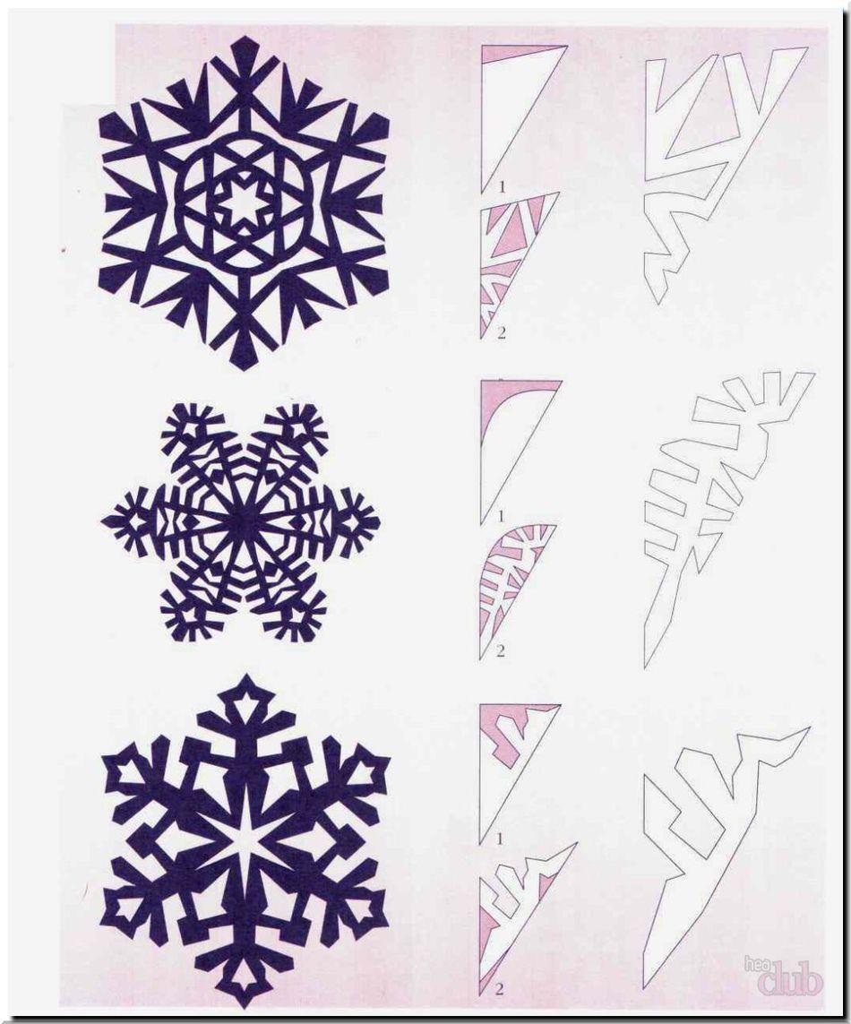 Распечатать и вырезать снежинки из бумаги схемы