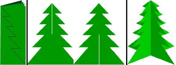 Бумажная елка  схемы 56