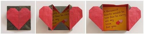 Поделки из бумаги сердечко с коробочкой 59