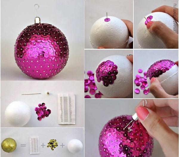 Елочные игрушки своими руками шарик