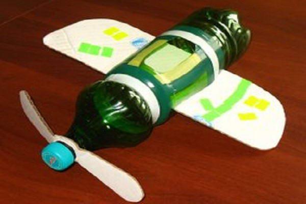 Самолет из бутылок пластиковых своими руками
