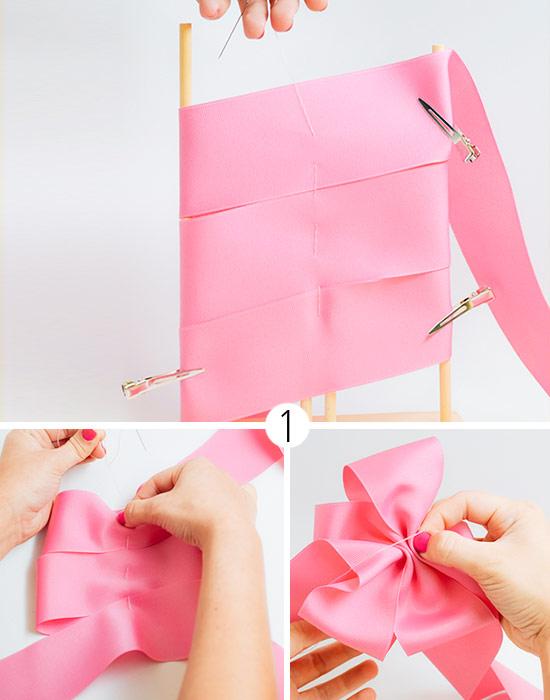 Как сделать бант из атласной ленты своими руками для платья