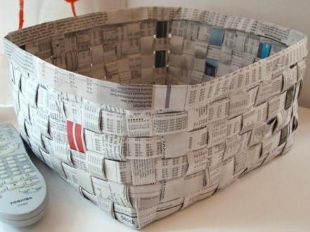 Как сделать корзинки из газет своими руками