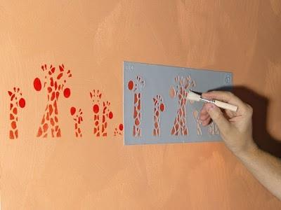 Как правильно сделать трафарет для покраски