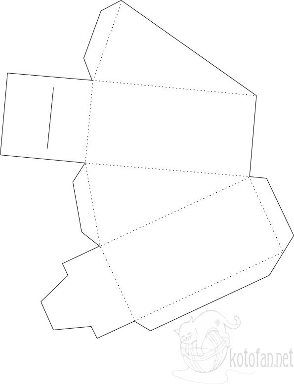 Кусок торта из бумаги схема распечатать