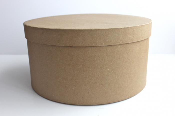 Как сделать круглую коробочку с крышкой из картона