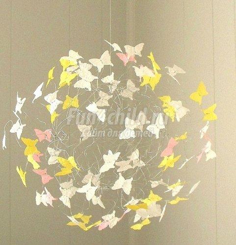 Шары с бабочками своими руками