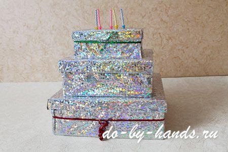Из коробки торта что можно делать из своими руками