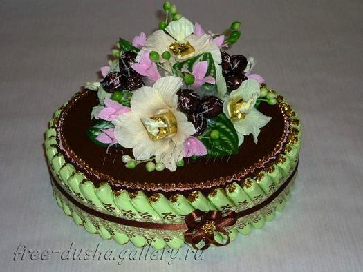 Поделки своими руками торт из конфет