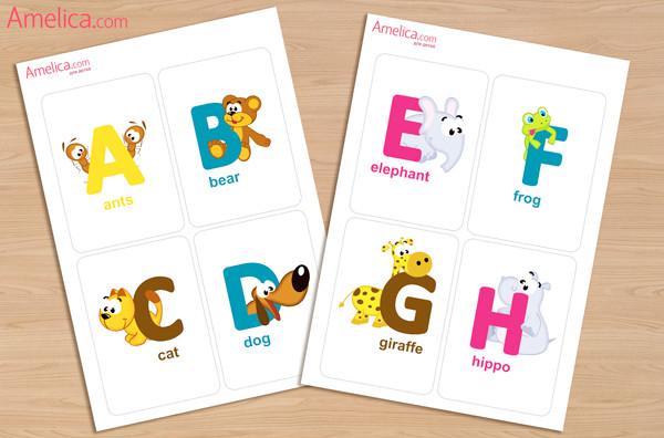 Карточки в картинках для английского языка скачать