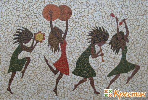 Мозаика из яичной скорлупы картины