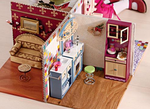Как сделать дом для кукол барби из коробок