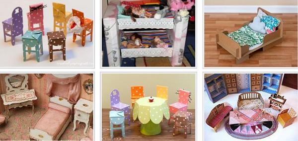 Как сделать мебель для кукол легко и просто