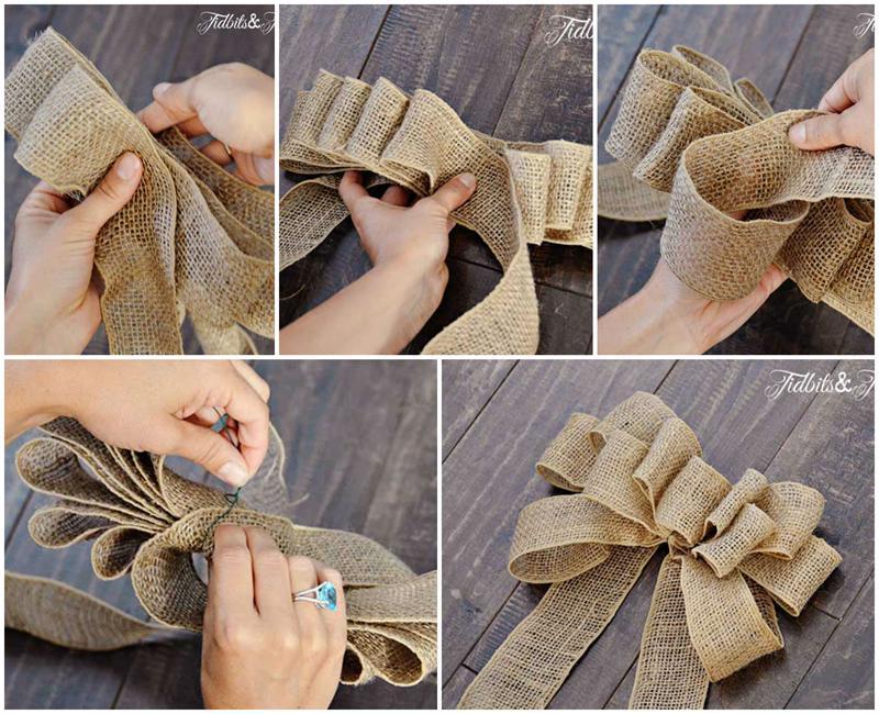 Как сделать украшение из банта