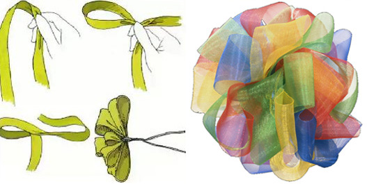 Как сделать цветок или бант из ленты