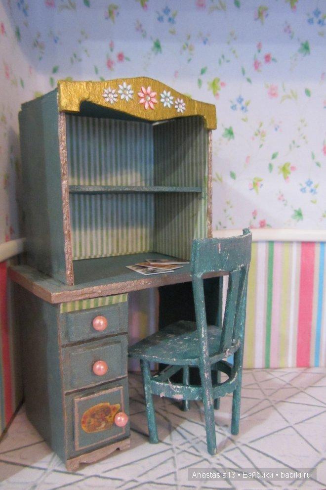 Мебель из картона для кукол мастер класс