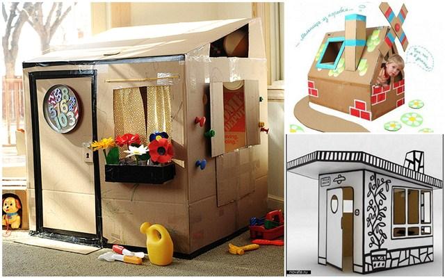 Как сделать домик для ребенка из коробок
