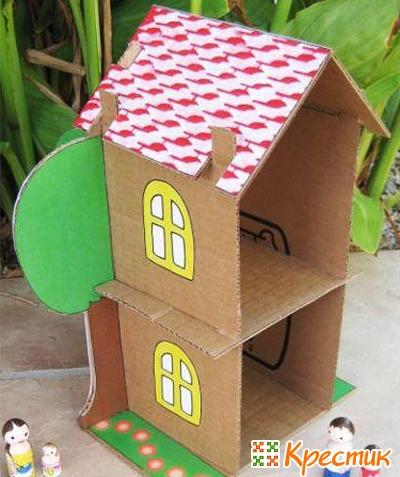 Как из картона сделать домик маленький видео - ЛЕГИОН