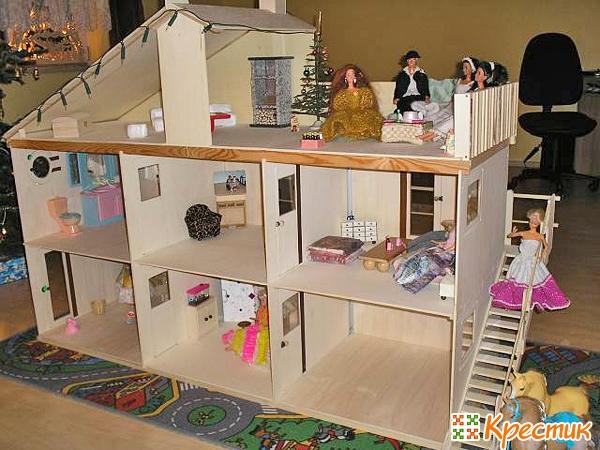 Как сделать домик для кукол своими руками из картона
