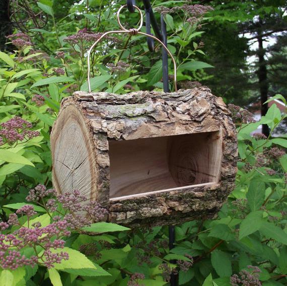 Кормушки для птиц из дерева своими руками необычная