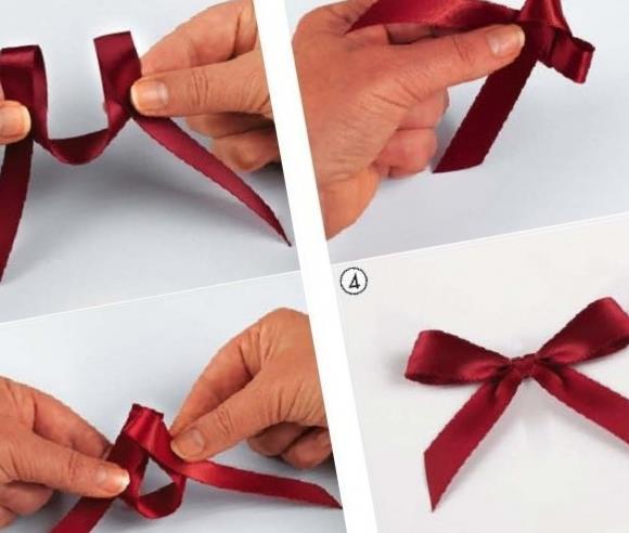 Как завязать бантик для открытки 18