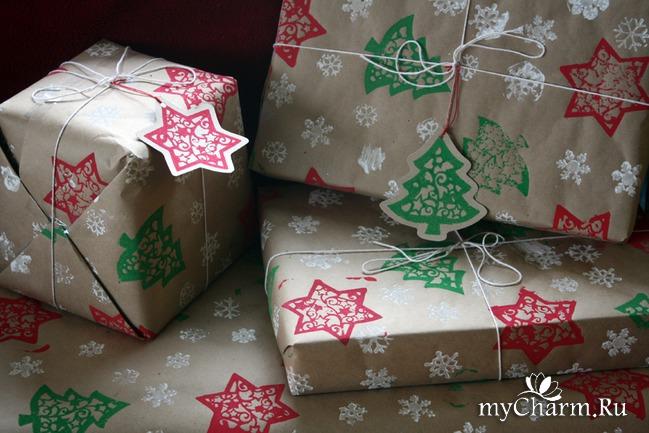 Подарок на новый год упаковка