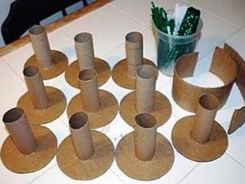 Как сделать вазочки из картона