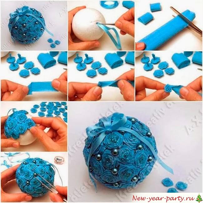 Декорирование елочных игрушек своими руками 25