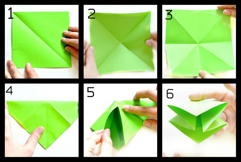 Делать из бумаги оригами на видео