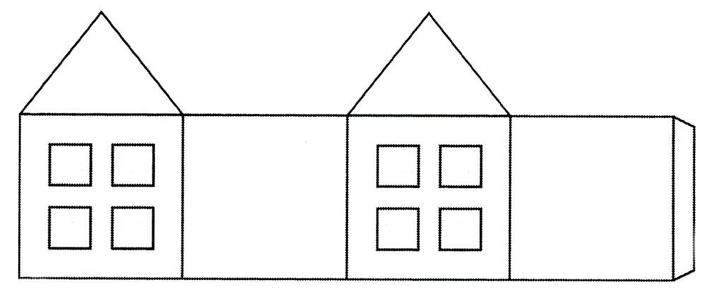 Как сделать из картона домик простой