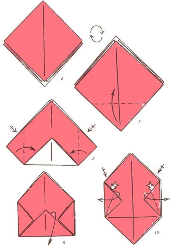Коробочка из бумаги оригами поэтапно