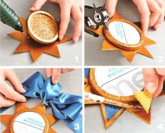 Как сделать медальку из бумаги