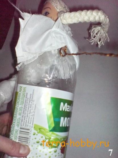 Снегурочка своими руками из подручных материалов