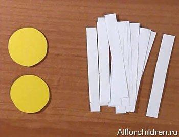 Поделки из петелек из бумаги