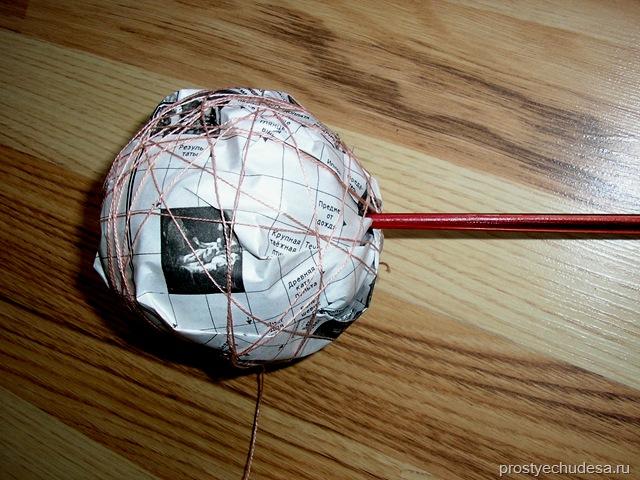 Как сделать шарик для топиария своими руками видео
