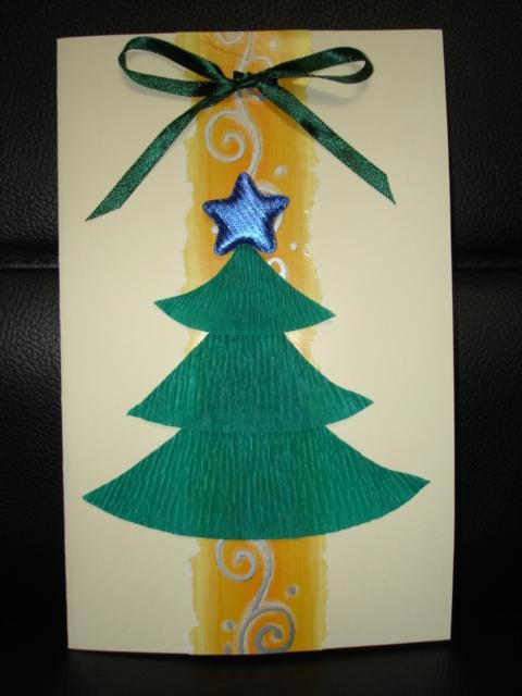 Новогодняя открытка папе своими руками